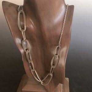 ACA Brand Silver Tone Mesh Link Long Necklace